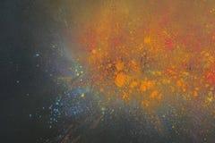 Cores de Holi no fundo preto Imagens de Stock