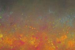 Cores de Holi no fundo preto Imagem de Stock Royalty Free