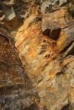 Cores de rochas oxidadas fotografia de stock