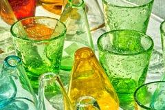 Cores de vidro Fotografia de Stock Royalty Free