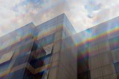 Cores de vidro do espectro da fachada foto de stock