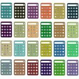 Cores diferentes das calculadoras quadriculação Fotografia de Stock