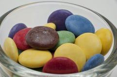 Cores diferentes dos doces de chocolate Fotografia de Stock