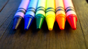 Cores do arco-íris dos pastéis Imagens de Stock