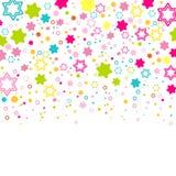Cores do arco-íris Fundo com estrelas coloridas ilustração do vetor