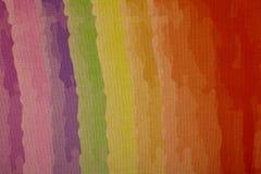 Cores do arco-íris na lona, retalho em uma ampliação Imagem de Stock