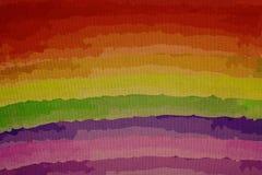 Cores do arco-íris na lona, retalho em uma ampliação Fotos de Stock Royalty Free
