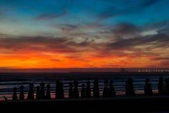 Cores do céu africano Foto de Stock