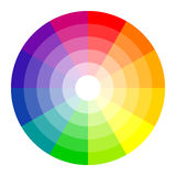 Cores do círculo de cor 12 ilustração royalty free