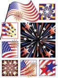 Cores do Celebração-Inclinação julho de quarto ilustração stock