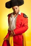 Cores do espanhol do humor da coragem do Bullfighter fotos de stock royalty free