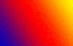 Cores do espectro do vetor do inclinação do polígono Fotografia de Stock Royalty Free