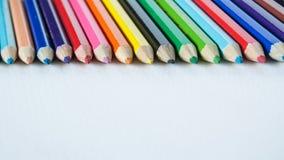 Cores do lápis Imagens de Stock