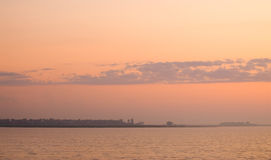 Cores do lago sunrise Imagens de Stock