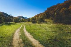 Cores do outono da estrada secundária Foto de Stock Royalty Free