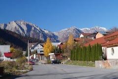 Cores do outono no pé das montanhas Carpathian imagens de stock royalty free