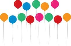 Cores dos balões ilustração stock