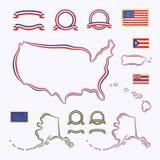 Cores dos EUA ilustração royalty free