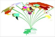 Cores dos livros e dos mundos ilustração do vetor