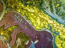 Cores e texturas do lago Austrália Nangudga fotos de stock