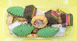 Cores, formas e cookies misturadas do italiano dos sabores fotografia de stock