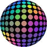cores holográficas do espectro da esfera 3d O arco-íris iridescente matiza o globo do mosaico no fundo branco isolado ilustração royalty free