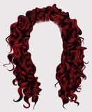 Cores longas do rad dos cabelos encaracolado peruca do estilo da forma da beleza Imagens de Stock