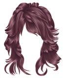 Cores longas do rosa do opper do  dos cabelos Ñ da mulher na moda Forma da beleza Imagens de Stock Royalty Free