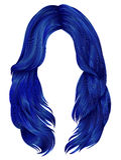 Cores longas dos cabelos da mulher na moda Forma da beleza realístico Imagens de Stock Royalty Free