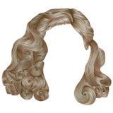Cores louras do kare na moda dos cabelos da mulher Forma da beleza ondas retros do estilo Fotos de Stock Royalty Free