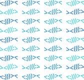 Cores modernas de Christian Fish Symbol Pattern Beach ilustração stock