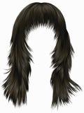 Cores morenos do marrom escuro dos cabelos longos na moda da mulher Forma da beleza Foto de Stock Royalty Free