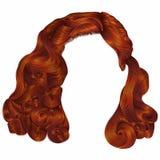 Cores na moda do gengibre vermelho de cabelos curtos da mulher franja a forma seja Imagem de Stock