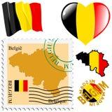 Cores nacionais de Bélgica Foto de Stock Royalty Free