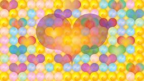 Cores pastel dimensionais dos corações de Yin Yang Foto de Stock Royalty Free