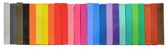 Cores pastel do artista do giz coloridas Fotos de Stock
