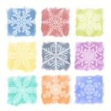 Cores pastel do floco de neve ajustadas Imagem de Stock Royalty Free