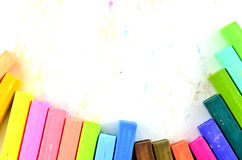 Cores pastel do giz da cor isoladas Fotos de Stock
