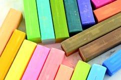 Cores pastel do giz da cor isoladas Foto de Stock Royalty Free