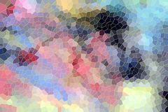 Cores pastel e contrastes, fundo colorido ilustração stock