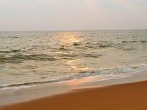 Cores pastel na praia no tempo do por do sol Fotos de Stock Royalty Free