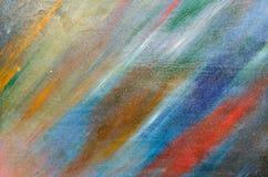Cores pastel pálidas na lona densa Fotografia de Stock Royalty Free