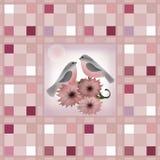 Cores pastel quadriculado e bullf da textura de matéria têxtil retro sem emenda Imagens de Stock