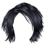 Cores pretas morenos dos cabelos bagunçados na moda da mulher Fá da beleza Fotografia de Stock Royalty Free