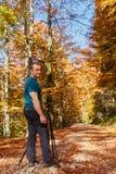 Cores profissionais do outono do tiro do fotógrafo Imagens de Stock Royalty Free