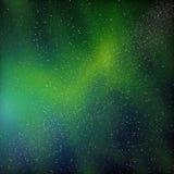 Cores surpreendentemente bonitas da aurora boreal Foto de Stock