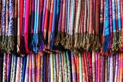 Cores tibetanas de matéria têxtil fotografia de stock