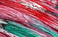 Cores verdes vermelhas azuis brancas do rosa, fundo borrado da aquarela da pintura, fundo abstrato da aquarela da pintura imagens de stock