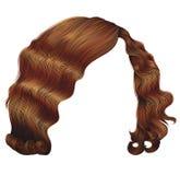 Cores vermelhas do kare na moda dos cabelos da mulher Forma da beleza ondas retros do estilo Imagens de Stock Royalty Free