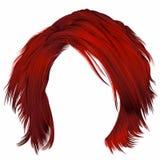 Cores vermelhas dos cabelos bagunçados na moda da mulher Forma da beleza Fotos de Stock Royalty Free